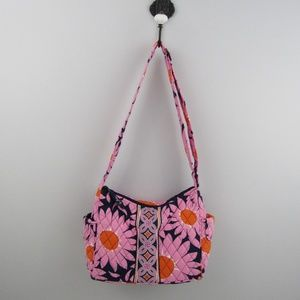Vera Bradley vibrant floral shoulder bag